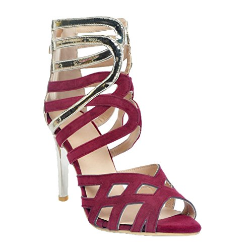 Kolnoo Damen Faschion 11cm Absatz Schuh Sommer-reizvolle Partei Sandelholz Schuhe Purple