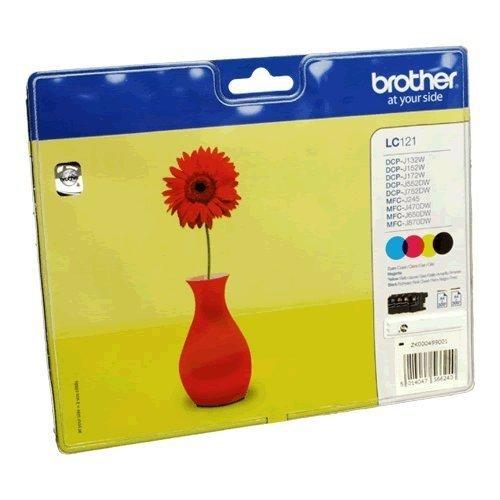 Preisvergleich Produktbild Brother LC121VALBP Tintenpatronen im Multipack, schwarz/cyan/magenta/gelb