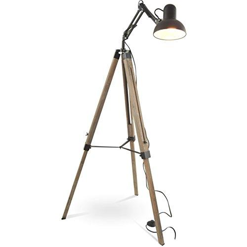 mojoliving MOJO Industrial Chic Stehlampe Retro Vintage Lampe Tripod Schwenkarm ml41