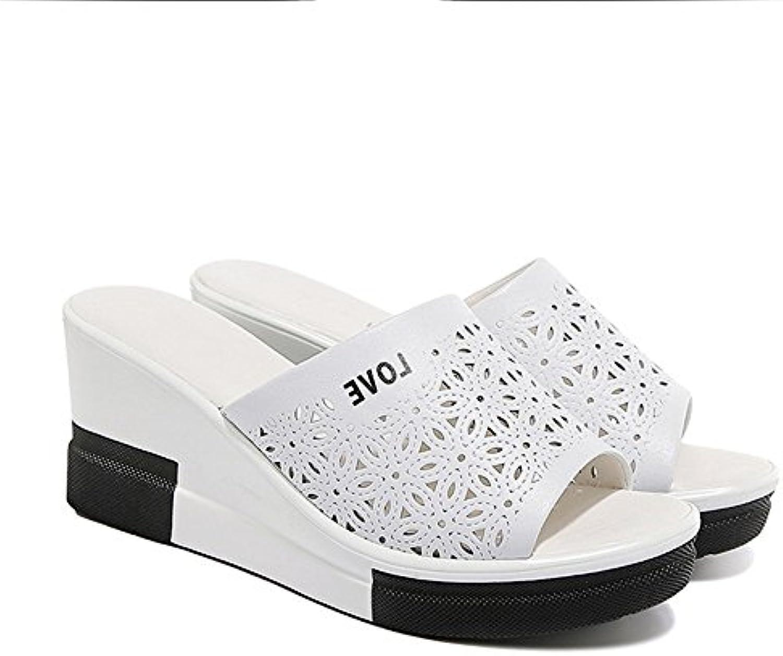 Gaolongjun Zapatos GLJXG Pendiente Femenina de Verano con el Uso de Fuentes de Tacón Alto y Zapatillas Frescas...