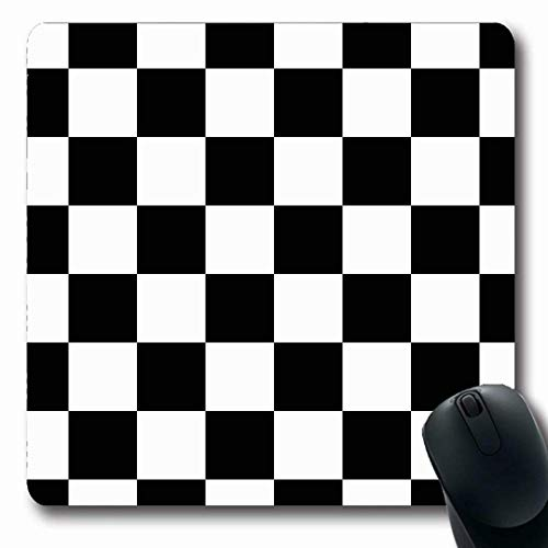 Luancrop Mousepads Black Check White Squares Abstraktes Muster Battle Chess Auto Board Cells Design Race rutschfeste Gaming-Mausunterlage Gummi-Matte (Battle Board)