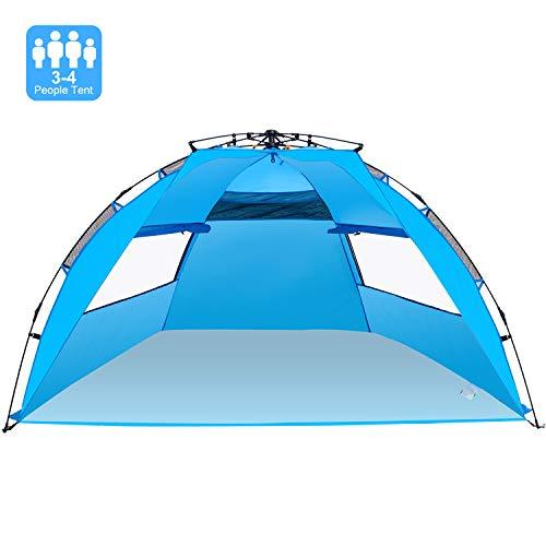 WloveTravel Tente de Plage Automatique d'extérieur, Cabine Portable, Installation Facile, Tente de Camping, abri Solaire pour 3-4 Personnes