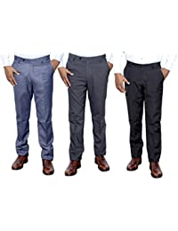 Indistar Combo Offer Mens Formal Trouser (Pack Of 3) - B01JRQZ5AM