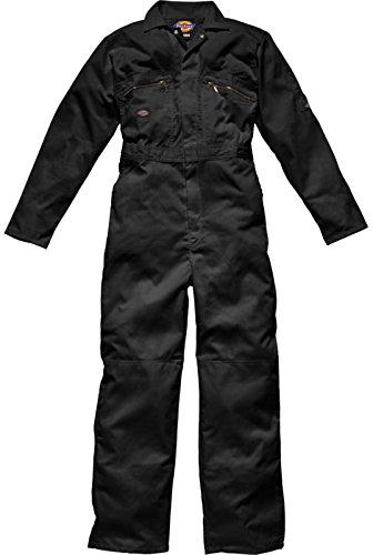Dickies Herren Redhawk Arbeitskleidung Overall Reißverschlussfront schwarz 36/R Dickies Overall Schwarz