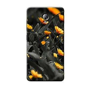 BLACK FLOWERS BACK COVER FOR LENOVO VIBE P1