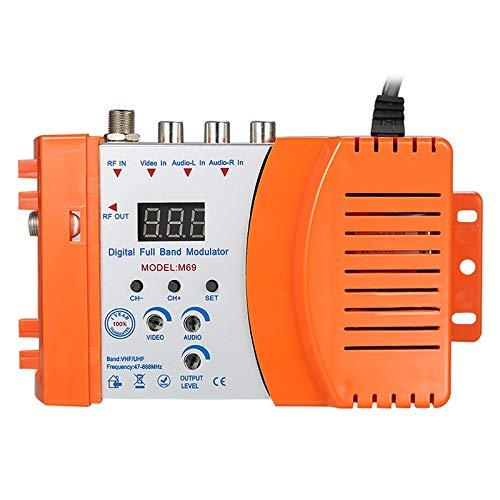 SODIAL Spina UE Modulatore Modulatore RF Compatto Ad Alte Prestazioni Convertitore Audio Video TV Amplificatore del Segnale Uff Rhf Strumenti AC230V