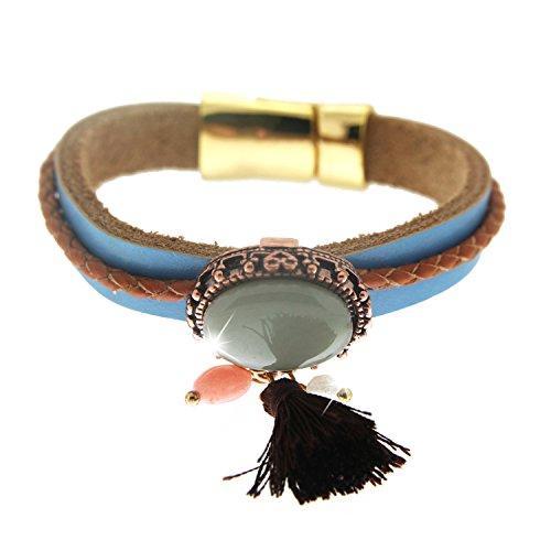 sweet deluxe 4139 Armband Clarissa in Braun, Damen-Armband für jeden Anlass, Armreif, Geburtstagsgeschenk für Frauen, Geschenkidee, Hochzeit, Abiball, Geburtstag (Deluxe-armband)