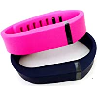 Preisvergleich für ! Small S 1pc Navy (Blue) 1pc Purple / Pink Replacement Bands + 1pc Free Small Grey Band With Clasp for Fitbit FLEX Only /No tracker/ Wireless Activity Bracelet Sport Wristband Fit Bit Flex Bracelet Sport Arm Band Armband