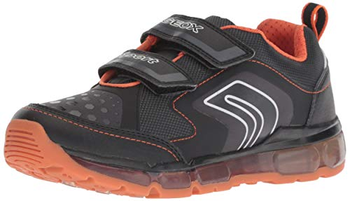 Geox Jungen J Android Boy A Sneaker, Schwarz (Black/Orange C0038), 30 ()