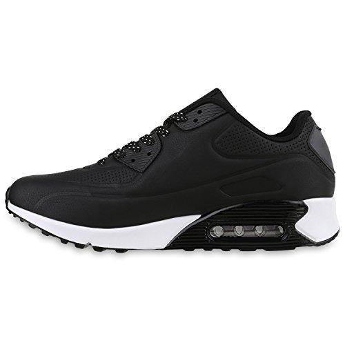 Damen Herren Unisex Laufschuhe Profil Sohle Sportschuhe Fitness Schuhe Schwarz Weiss Brooklyn
