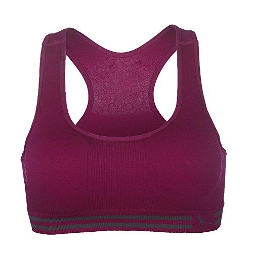 itopfoxeu sans couture I Basses femme Push Up Soutien-gorge de sport Yoga Violet - Violet