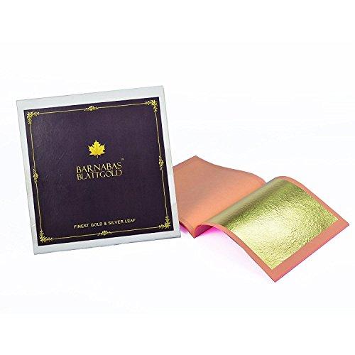 Barnabas Echtes Blattgold 10 Blätter 23.75k echtes Blattgold in einer Packung, 80 X 80mm