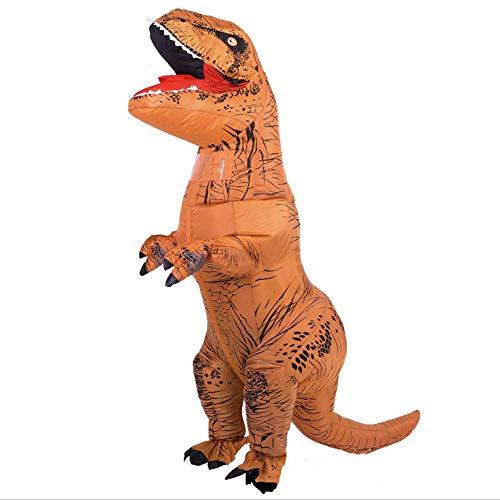 HXYL Adult Halloween Dress Up Dinosaurier Kostüm, Aufblasbare Tyrannosaurus Performance Kostüm Maskerade, Lustig Streich (Maskottchen Kostüm Streich)