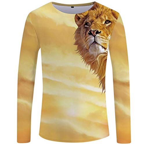 Luckycat Herren 3D Drucken Langarmshirt Pullover Stripe Langarm Shirt Henley-Kragen Sweatshirt für Männer Oversize Herren Longsleeve Basic Sweatshirt Crew Neck Basic Shirt Stripe Zip Fleece