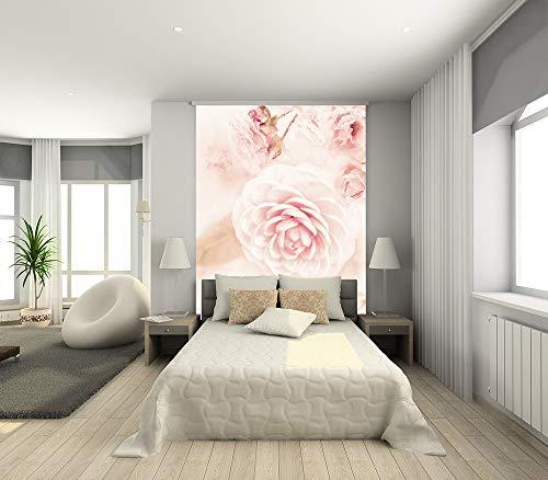Fototapete selbstklebend Aquarell - Rosa Rosen - Vintage - 150x200 cm - Wandtapete - Poster - Dekoration - Wandbild - Wandposter - Bild - Wandbilder - Wanddeko