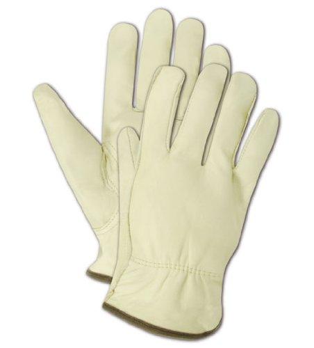 Magid tb550e Roadmaster ungefüttert genarbtem Leder Treiber Handschuh mit Keystone Daumen, Work, mittelgroß, Hellbraun (One Dutzend) Leder Fahrer Handschuhe Braun