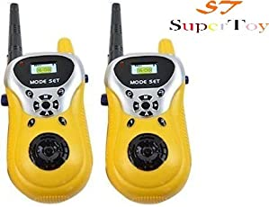 SUPER TOY Walkie Talkie Phone Toy for Little Spy Kids (Set of 2)