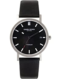 Danish Design DZ120013 - Reloj para hombre, correa de cuero color negro
