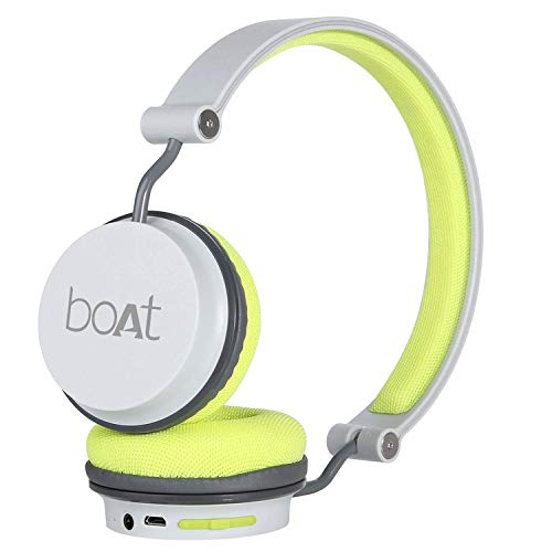 boAt Super Bass Rockerz 400 Bluetooth On-Ear Headphones with Mic (Grey/Green) 1