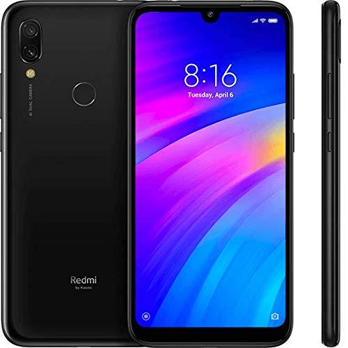 "Xiaomi Redmi 7, Cellulare da 15,9 cm (6, 26""), (64GB ROM, 3GB RAM, Android 9.0 (Pie), Dual SIM), Nero (Eclipse Black)"