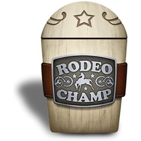 Western COWBOY rodeo BELT buckle Bathroom Tumbler Q tip JAR holder NEW by Borders Unlimited