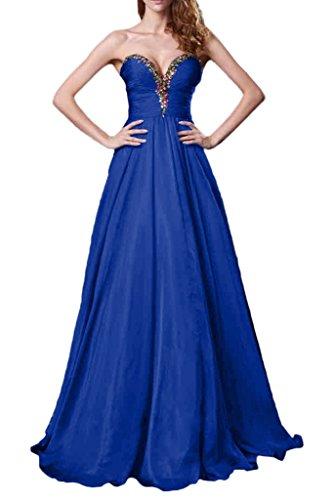 Victory Bridal Anmutig Traegerlos mit Steine Tanzenkleider Promkleider Partykleider Abendkleid neu Royal Blau