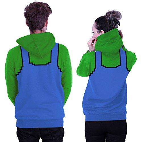 Belsen Damen Kapuzenpullover mehrfarbig Lightning cat L bib Green