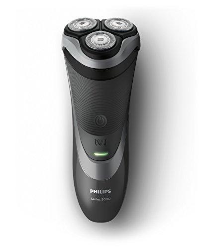 Philips 3000 Series S3510 / 06 - Elektrischer Rotationsrasierer für Herren, eingebauter Seitenbrenner