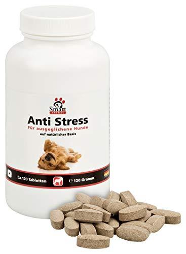 Smart Animal Anti Stress Beruhigungstabletten für nervöse und ängstliche Hunde - 120 Tabletten -...