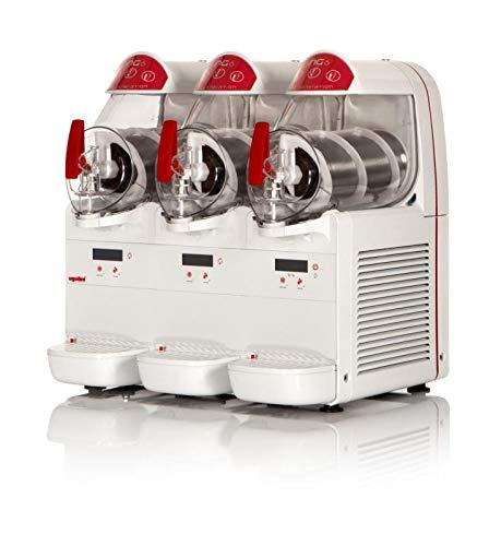 UGOLINI NG6/3 EASY - Máquina para granizados, sorbetes, cremas frías, 3 recipientes de 6 litros, dispensador fabricado en Italia