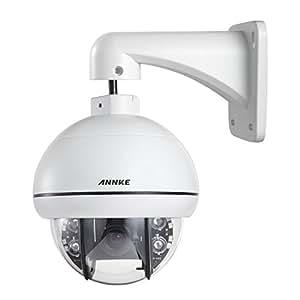 """Annke 720P PTZ Dôme CCTV Caméra avec 1/4"""" APTINA CMOS Sensor et 3.0~10.0mm Lentille varifocale Dynamique optique, IP 66 Weatherproof Caméra de Sécurité Dôme Extérieur avec 3X Zoom"""