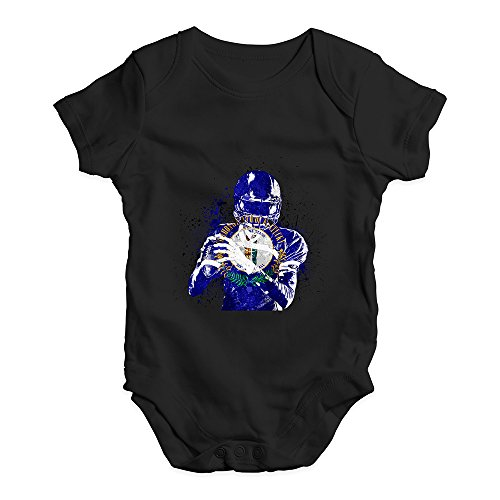 TWISTED ENVY Funny Infant Baby Bodysuit Kentucky American Football Player