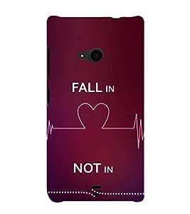 Fiobs Designer Phone Back Case Cover Microsoft Lumia 535 :: Microsoft Lumia 535 Dual SIM :: Nokia Lumia 535 ( Fall in Love Not In Quotes )