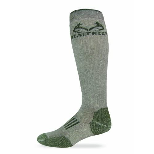 41zeoMnJzfL. SS500  - Realtree Outfitters Men's Merino Tall Boot Socks (1-Pair), Tan/Olive, Large