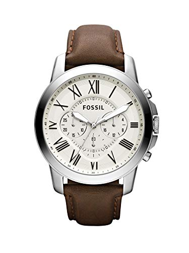 FOSSIL Mens Chronograph Quartz Watch with Leather Strap FS4735IE Best Price and Cheapest