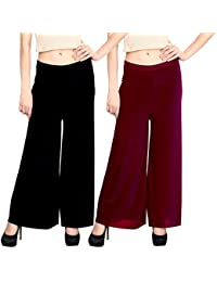 Pixie Casual Wear Pant Palazzo Combo (Pack of 2) - Free Size