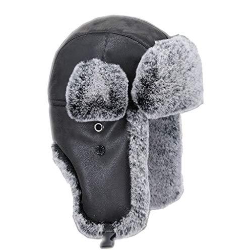 Nosterappou Cache-Oreilles d'hiver, Ski, Motos, Course à Pied, Escalade, activités de Plein air, Chapeaux épais apportent Chaleur, Coupe-Vent, Confortable, Casque Parfait (Taille : XL)