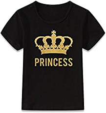 ADYK Cotton Black T-Shirt Princess