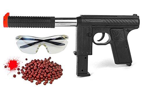 Nick and Ben Softair Pumpgun Softair-Gewehr Set M20-6 inkl. Farbkugeln u. Schutzbrille ABS Federdruck ca. 0,262 Joule ab 14 Jahre