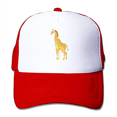 deyhfef Yellow Giraffe Adjustable Sports Mesh Baseball Kappen Trucker Cap Sun Hüte ()