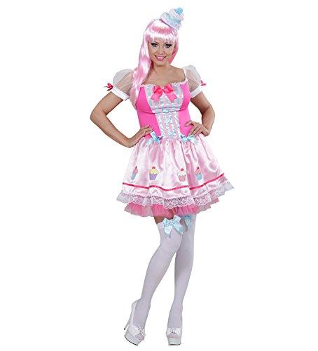 Widmann 01771 - Kostüm Cupcake Mädchen mit Hut, (Mädchen Cupcake Halloween Das Kostüme)