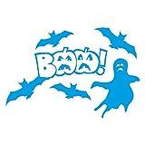 1336_LBL Wandaufkleber Halloween decorations, BAA! (Light Blue)