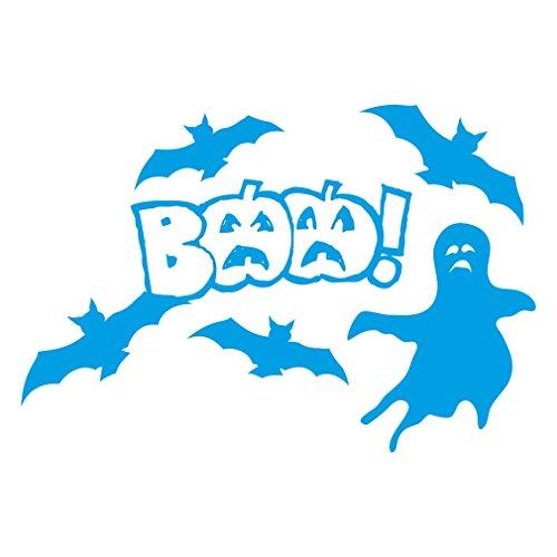 Selbstgemachte Deko Ideen Für Halloween - 1336_LBL Wandaufkleber Halloween decorations, BAA! (Light