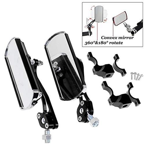 lymty Fahrrad-Rückspiegel, 1 Paar Aluminium-Fahrradspiegel Mountainbike-Hecklenker-Ende Rückansicht Rückspiegel Gadget
