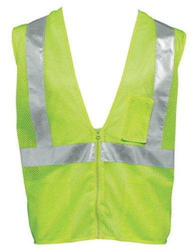 Liberty HiVizGard Polyester All Mesh Fabric Class 2Safety Weste mit 5,1cm breit silber Reflektierende Streifen und mehrere Taschen, S, Fluorescent Lime Green, 1