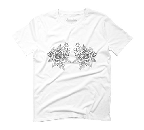 Forest Bouquet Men's Graphic T-Shirt - Design By Humans White