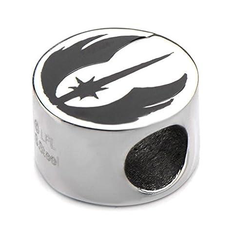 Stainless Steel Jedi Order Logo Symbol Bead Bracelet Charm