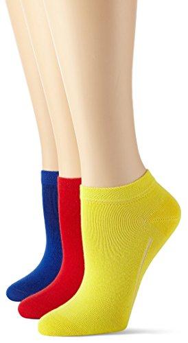 Camano - Chaussettes Pour Femmes, 3 Pièces Multicolore (feu / Citron / Bleu Prussien 94)