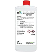 Medicalcorner24–Isopropanol líquido de limpieza–99,9% alcohol isopropílico–1l (1000ml)