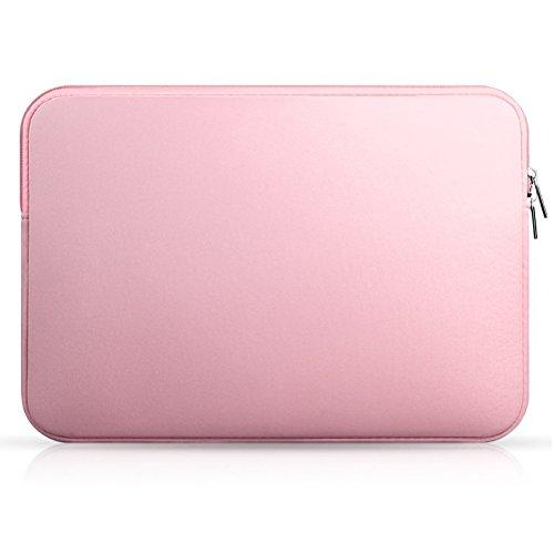 LEORX portátil manga caso bolsa de transporte superficie para Mac de 13pulgadas MacBook Air/Pro/Retina (color rosa)